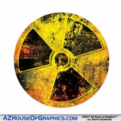 GRUNGE Radiation CIR Hard Hat Sticker - HH007