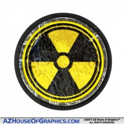 Radiation Rock Hard Hat Sticker - HH008 Zombie