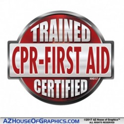 CPR First Aid Trained Certified Hard Hat Sticker - HH017