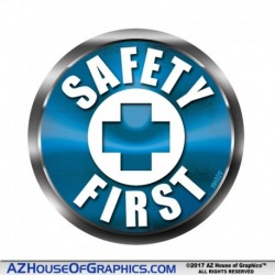 SAFETY FIRST Hard Hat Sticker BLUE - HH020