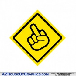 Middle Finger Hard Hat Sticker - HH022