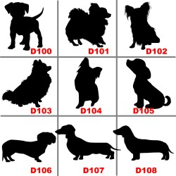 Dog Silhouette Car Decals