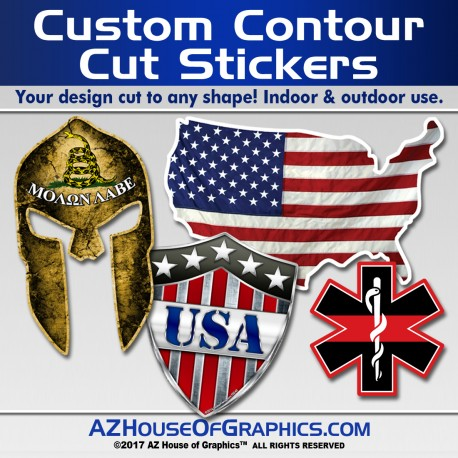 Contour Cut Stickers