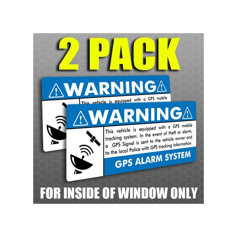 OSS Warning Stickers | Security System Stickers | Auto Window Decals | Home Security  Stickers | Criminal Warning | Anti Theft Sticker
