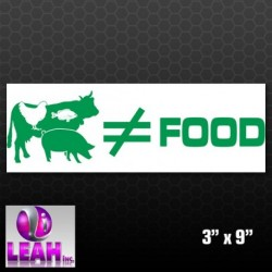 Animals Don't Equal Food Sticker