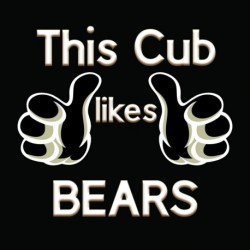 This Cub Likes Bears sticker