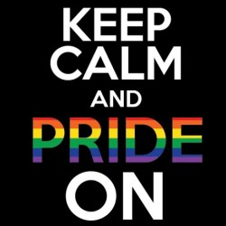 Keep Calm and Pride On! sticker