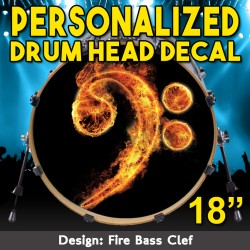 Drum Head Decal 18 Inch