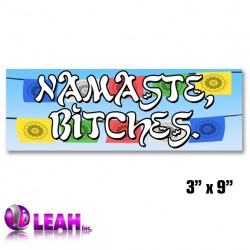 Namaste Bumper Sticker. Peace Ohm Om Yoga Mantra Aum. Poly Vinyl Decal Wall Car.