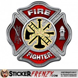 FS2027 Fire Fighter Diamond Plate Cross