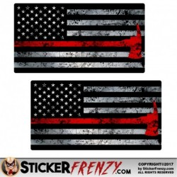 FS2034 Thin Red Line Axe Flag
